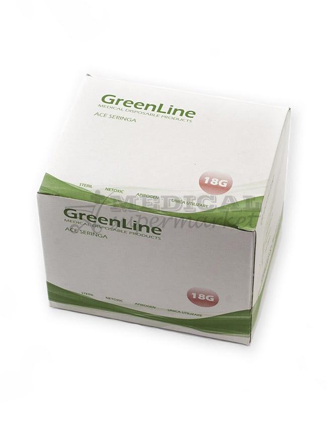 ace seringa 18G marca greenline