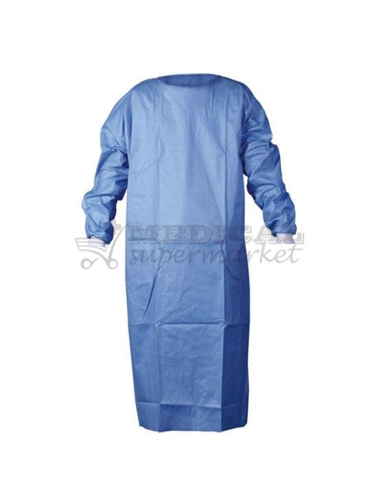 Halat chirurgical de unica folosinta, marca TopKlinik, Halat chirurgical de unica folosinta, ranforsat, halat chirurgical topklinik material SMS dimensiuni L si XL