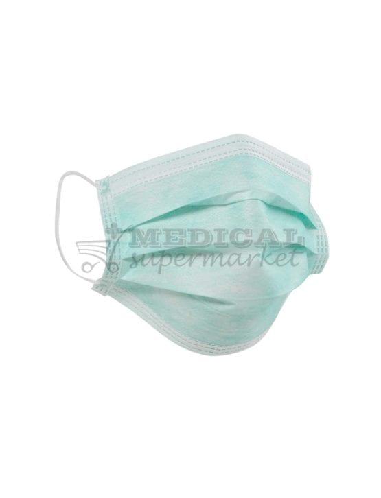 Masti chirurgicale cu elastic, 3 straturi, 3 pliuri, marca GreenLine, Masti chirurgicale cu elastic, 3 straturi, 3 pliuri, marca GreenLine