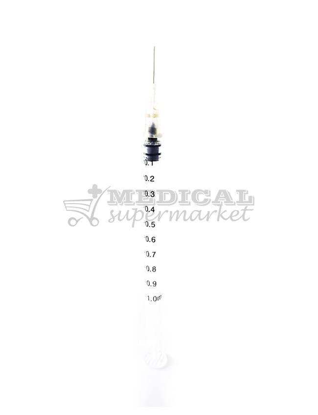 seringa unica folosinta, din 3 componente, 1ml cu ac 27G marca optium