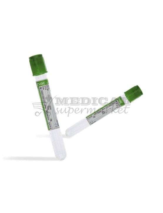 Vacutainer Litiu Heparina D-vac, vacutainer capac verde litiu-heparina d-vac