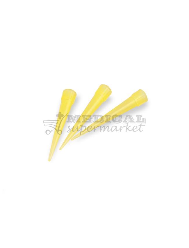Varfuri pipeta tip Eppendorf, culoare galbena, varfuri galbene tip eppendorf pentru pipeta