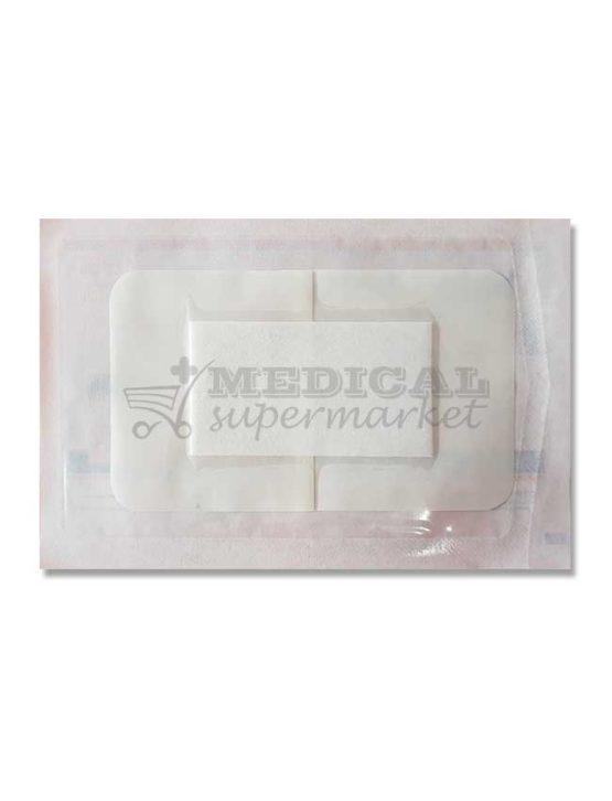 plasture transparent cu compresa sterila pentru protectia plagii