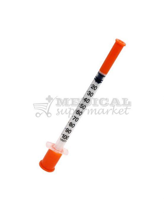 seringa de insulina 1ml cu ac incastrat